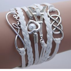 Leather Double Infinite Multilayer Bracelet