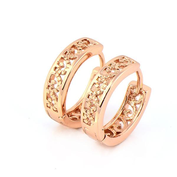 18K Rose Gold Plated Hoop Earrings | Ace Gems