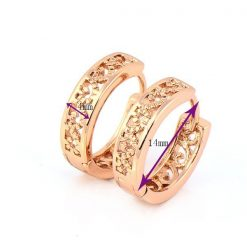 18K Rose Gold Plated Hoop Earrings