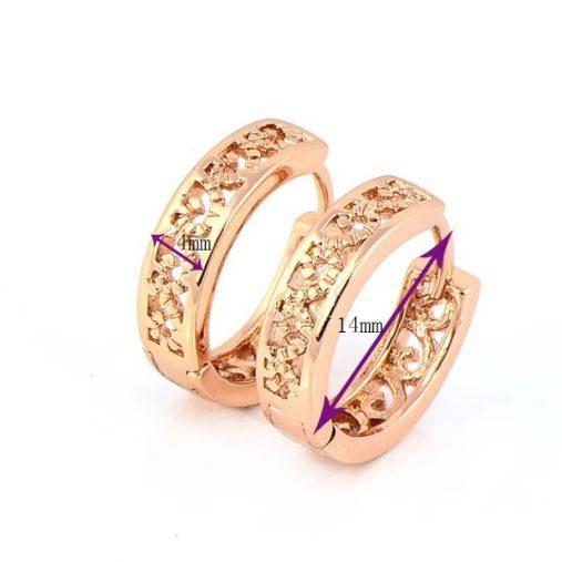 18K Rose Gold Plated Hoop Earrings