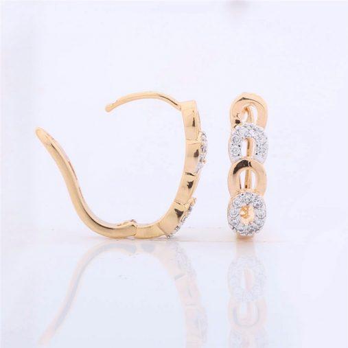 Brilliant White Topaz Earings