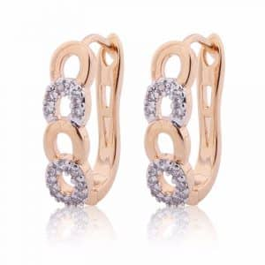 Brilliant White Topaz Earings