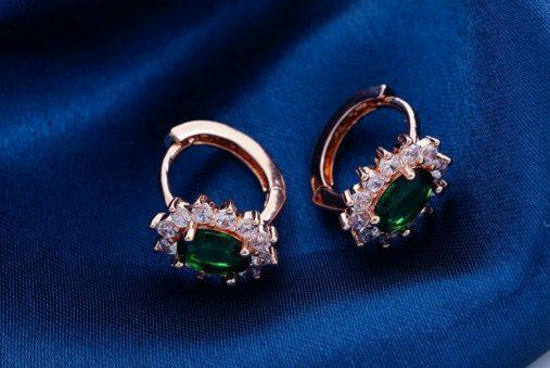 18 k rose gold plated filled hoop earrings
