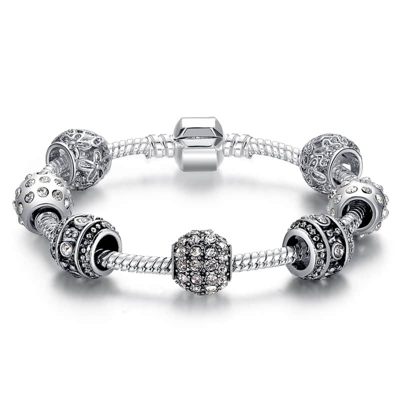 women adjustable fatima bracelet w ocesrio paved of g item silver zircon hand hamsa charm