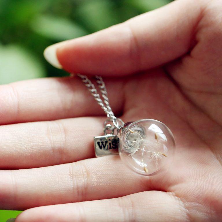 Natural Dandelion necklace
