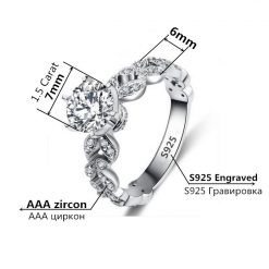 White gold plated Roman Wedding engagement rings
