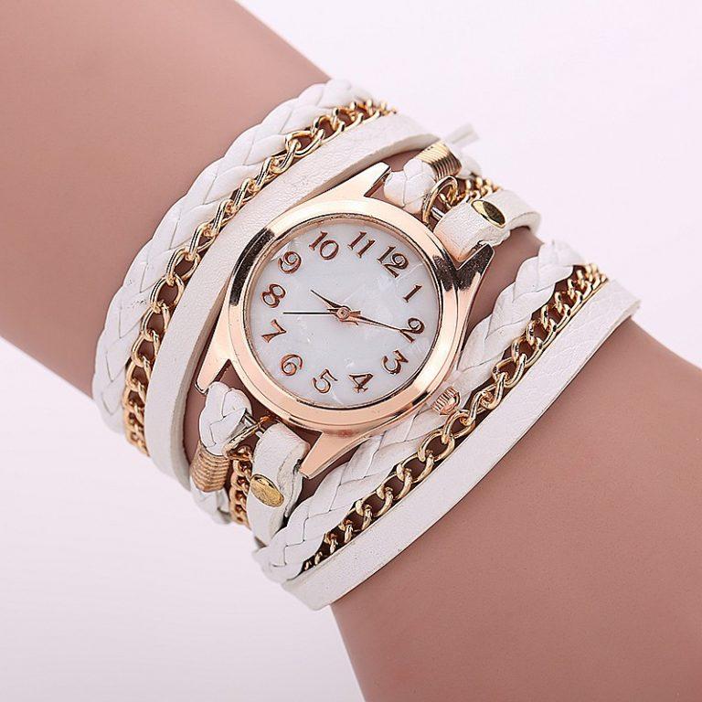 Wrist Watch Leather Bracelet