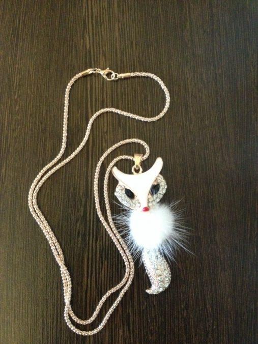 White Fox Pendant