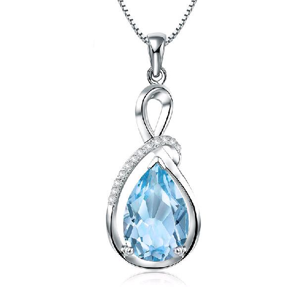 Platinum plated rhinestone water drop pendant ace gems home aloadofball Choice Image