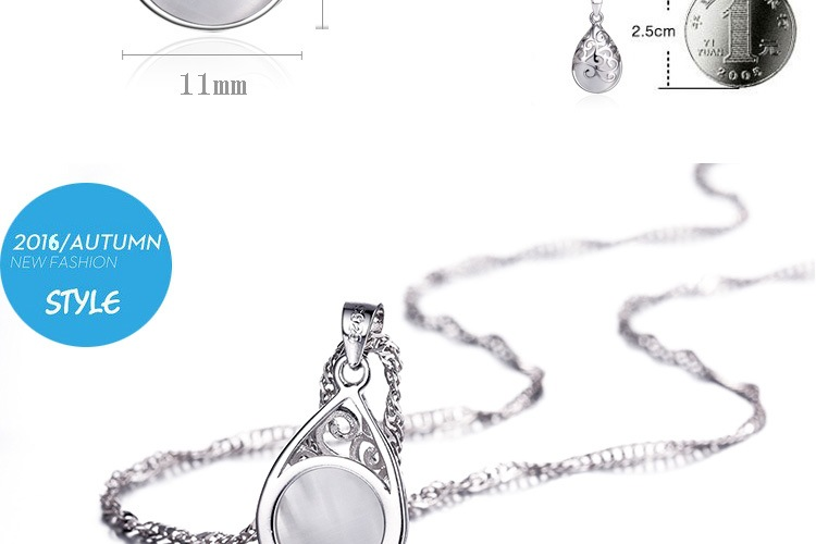 Silver plated Trevi Fountain Moonlight necklace