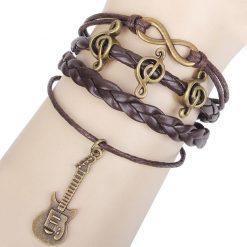 Music note guitar bracelet