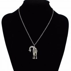 "Vintage Silver Giraffe Necklace ""1"""