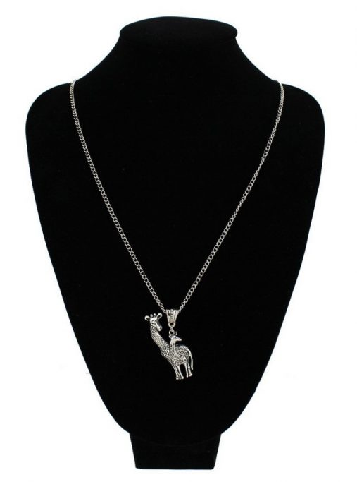"Vintage Silver Giraffe Necklace ""2"""