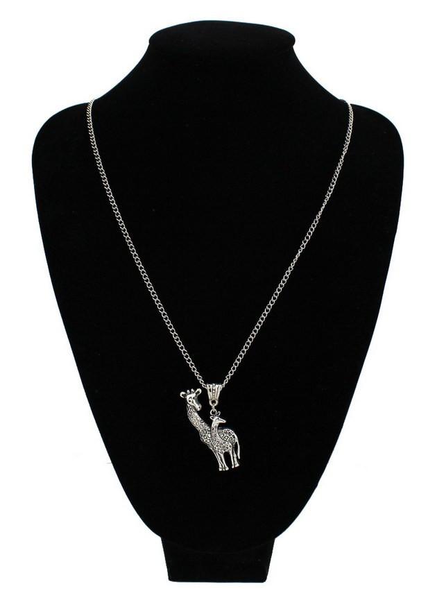 "Vintage Silver Giraffe Necklace ""2"""
