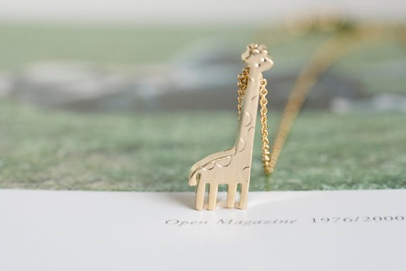 Gold Sliver Plated Chains Giraffe Necklace