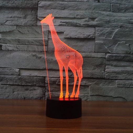 fantastic design 3D Giraffe Night Light Table Lamp
