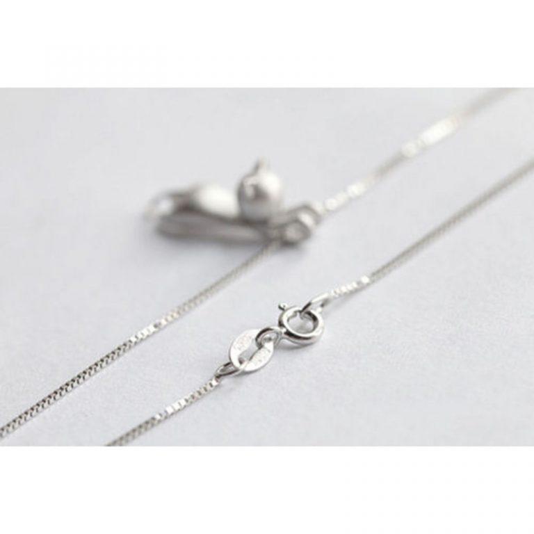 Silver Kitty Pendant
