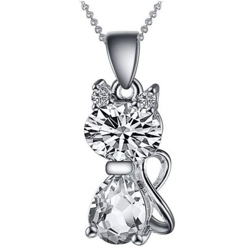 Crystal Cat Necklaces