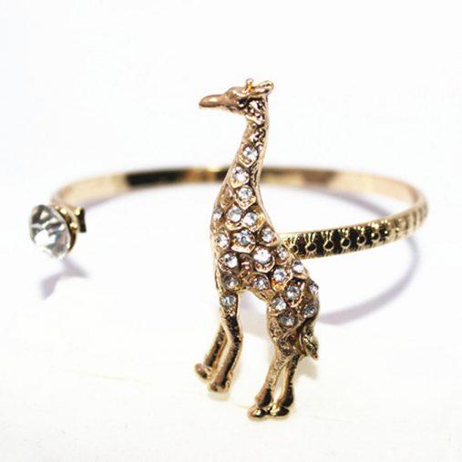 cyrstal giraffe gold plated bracelet