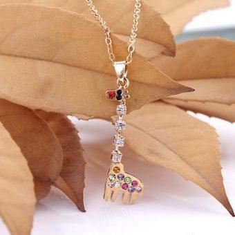 Colorful Giraffe Necklace