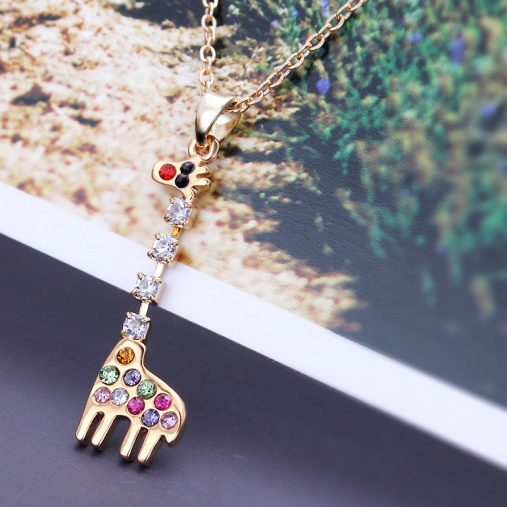 Colorful Giraffe Necklace