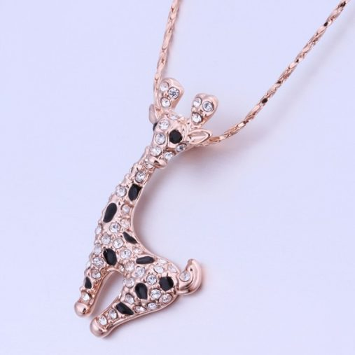 Crystal Giraffe Shaped Necklace