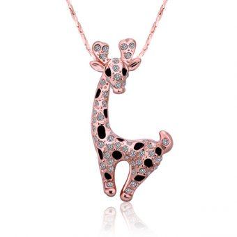 Crystal Giraffe Shaped Necklace