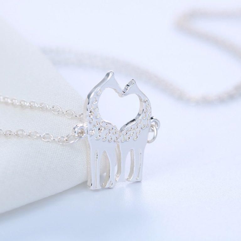 "Loving Giraffes Necklace ""2"""