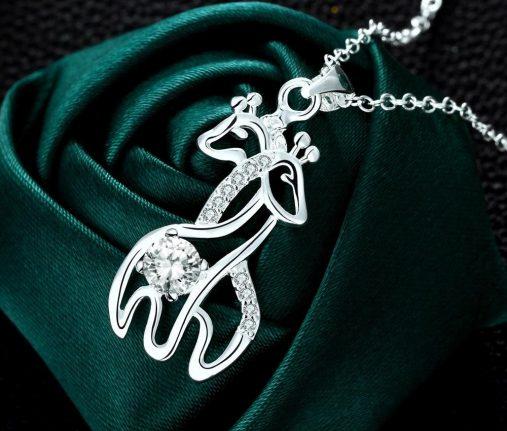 Couple Giraffe Necklace