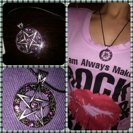 Pentagram Pendant with Crystals
