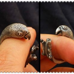Adjustable Parrot Lovers Ring