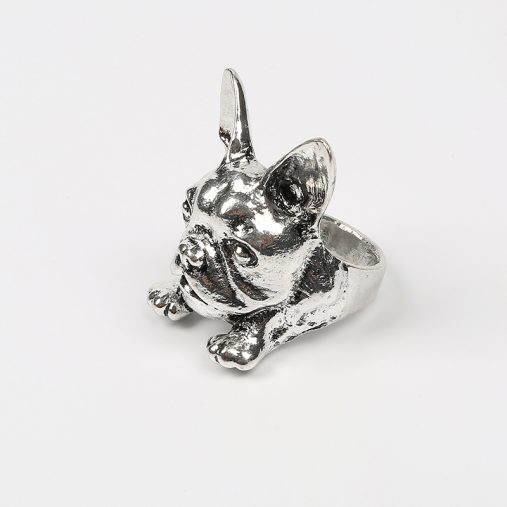 New French Bulldog Ring