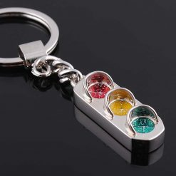 Traffic light keychain