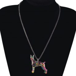 Doberman Colorful Necklace