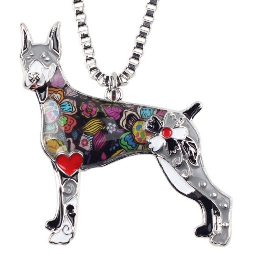 Doberman Colorful Necklace