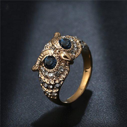 Cubic Zirconia Owl Rings