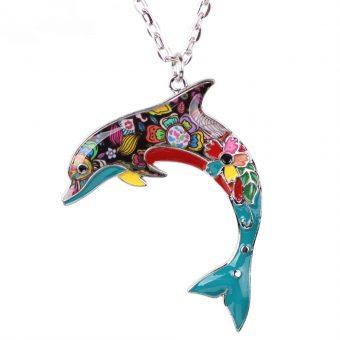 Bunte Delphinkette