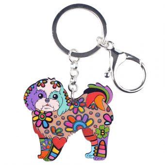 Colorful Shih Tzu Key-Chain