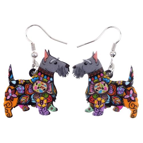 Scottish Terrier Earrings – Pair