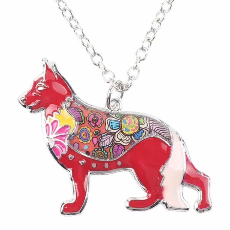 Colorful German Shepherd Necklace