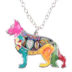 Colorful German Shepherd Necklace