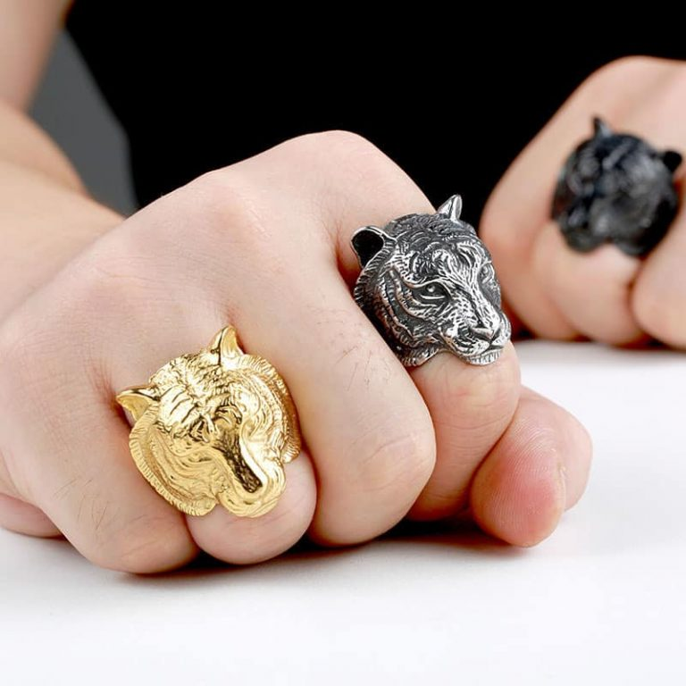 Tiger Head Ring