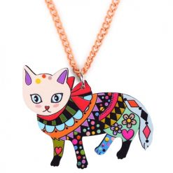 Colorful Cat Pendant