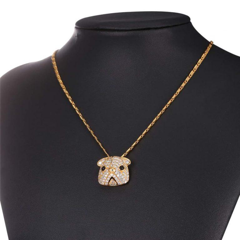 Cubic Zirconia Pug Necklace
