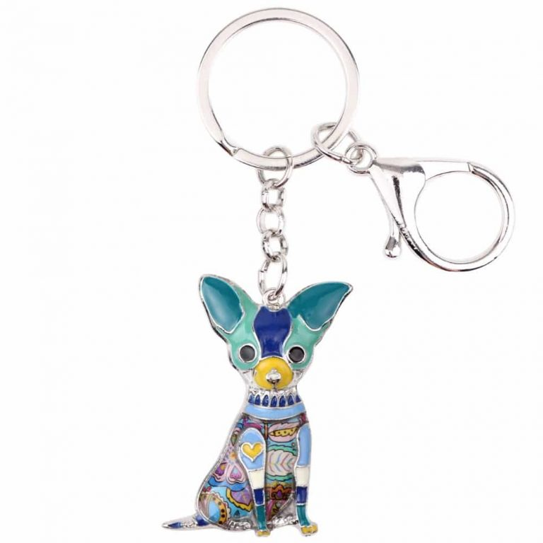 Colorful Chihuahua Key-chain