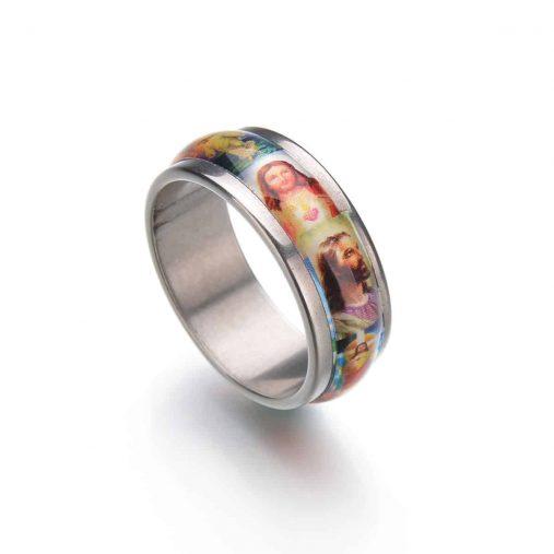 Jesus Oil Painting Ring