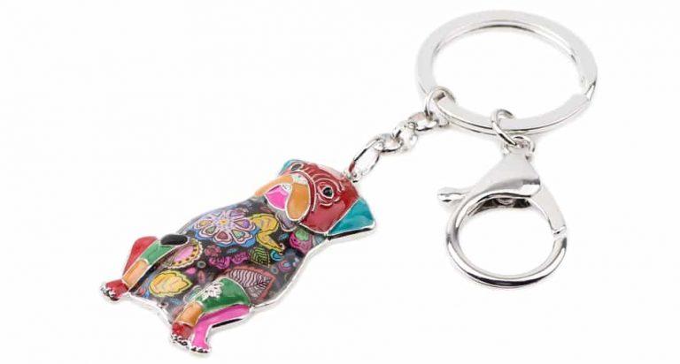 Colorful Pug Key-chain