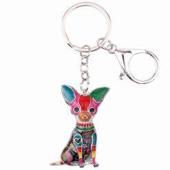 Colorful Chihuahua Key-chain