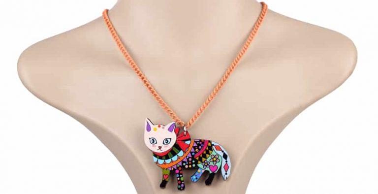Colorful Cat Pendant