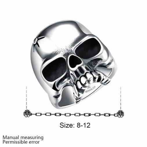 Polished Skull Ring
